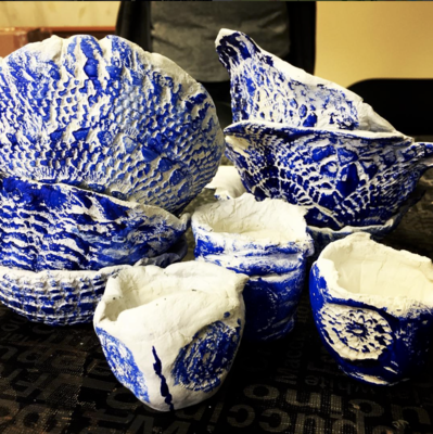 Lace Clay bowls and pots - Tue 8th Jan, 10am-12pm (6-12yrs)