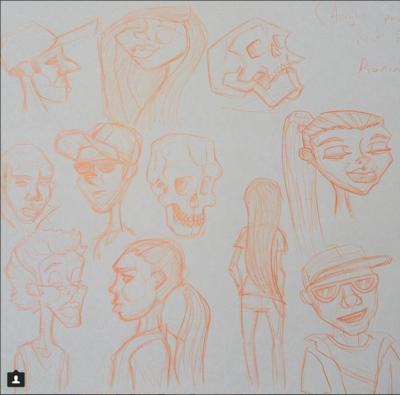 Advanced Sketching (Humans) Fri 11th Jan, 1-3pm (8-14yrs)