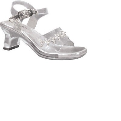 Childrens' Anna Clear Shoes with Silver Accent