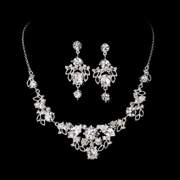 CRYSTAL NECKLACE EARRING SET
