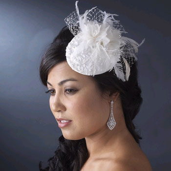 FEATHER FLOWER HAT