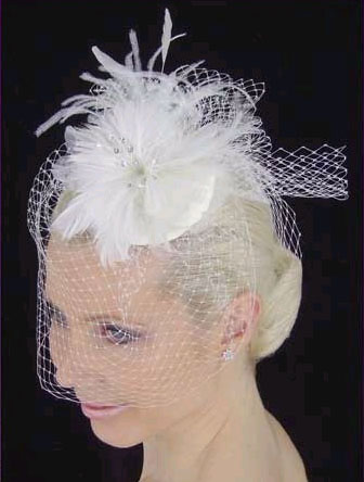 FEATHER HAT & FRENCH  BIRDCAGE