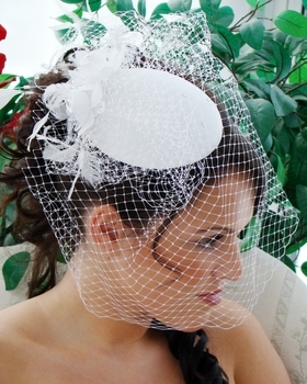 Vintage Bridal Hat with Bird Cage Veil