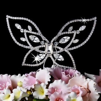 Crystal Butterfly Cake Top