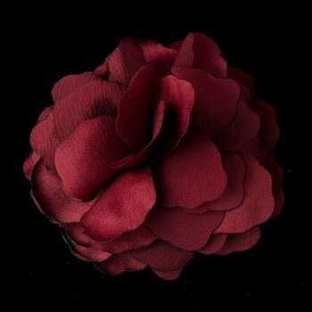 Beautiful Burgundy Flower Hair Clip