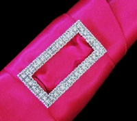 SMALL RECTANGLE RHINESTONE BUCKLE