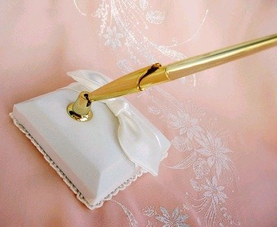 WHITE SILVER OR GOLD PEN  SET