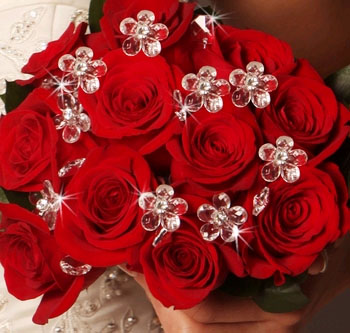 CLEAR FLOWER  BOUQUET JEWELS
