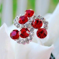 CRYSTAL SWIRLS IN RED