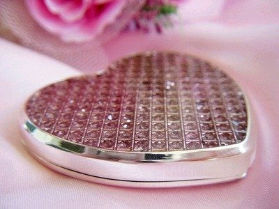 Glitter  Pink Compact