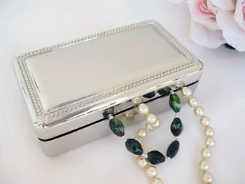 Double Velvet Rectangular Jewelry  Box