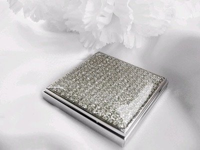 Crystal Glitter Square Compact Mirror