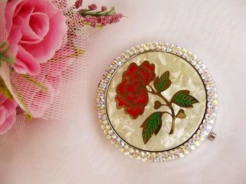 Rose Compact Mirror