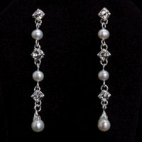 MIX STONES & PEARLS EARRINGS