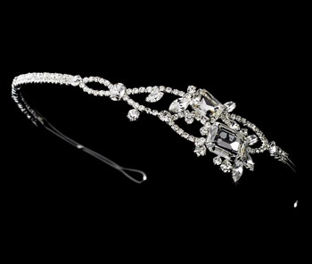 Rhinestone encrusted side accent headband