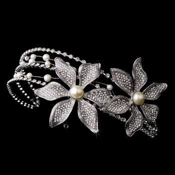 Rhinestone and Swarowski crystal headband SIDE ACCENT