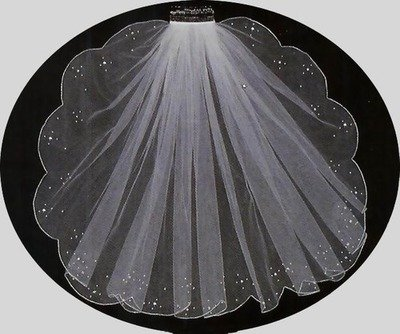 SCALLOP EDGE VEIL