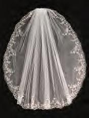 Veil embroidered edge