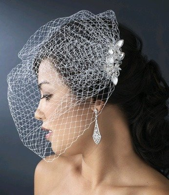 CRYSTAL COMB WITH CAGE VEIL
