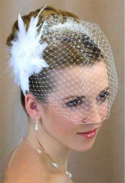 FEATHER & RHINESTONE FASCINATOR