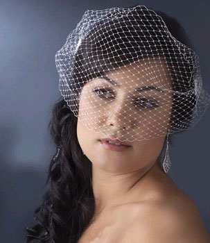 CAGE VEIL WITH SIDE COMBS