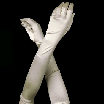 IVORY BRIDESMAID GLOVES