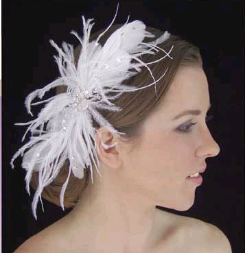 RHINESTONE & FEATHER FASCINATOR
