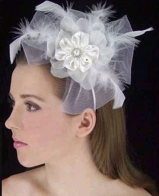 SATIN FLOWER HAT WITH HEADBAND