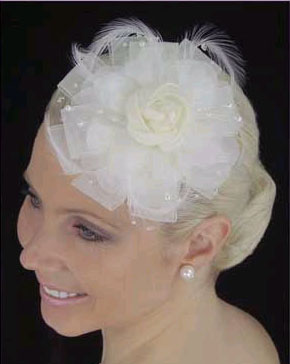 SILK FLOWER  HAT