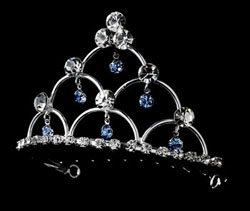 LIGHT BLUE CRYSTAL  TIARA