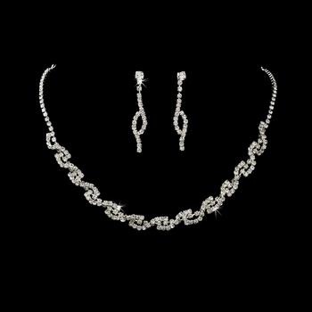 Gorgeous Crystal Swirl Jewelry Set