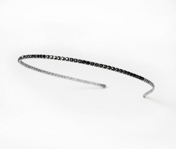 Dazzling Smoked Black Rhinestone Headband