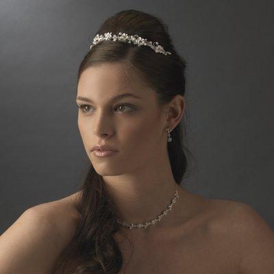 Silver Plated Bridal Headband