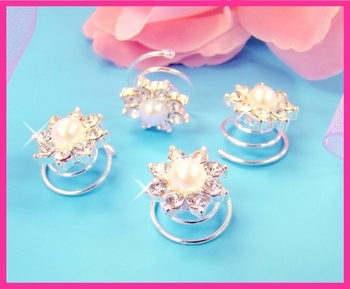 Crystal & Pearl Twist-Ins
