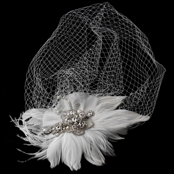 Vintage Couture Feather Bridal Headpiece