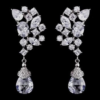 Silver CZ Earrings