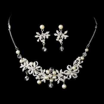 Elegant Pearl Bridal Jewelry Set