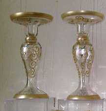 GOLD TONE CANDLE HOLDERS