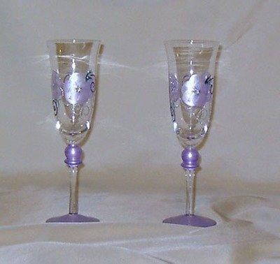 LAVENDER WINE GLASSES