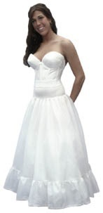 A-Line Spandex Waist Petticoat
