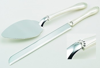 Wedding Cake Server Set with  Crystals