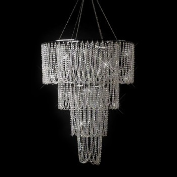 Diamond Cut Crystal Beaded Swag Chandelier