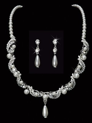 Pearl Bead Necklace Set
