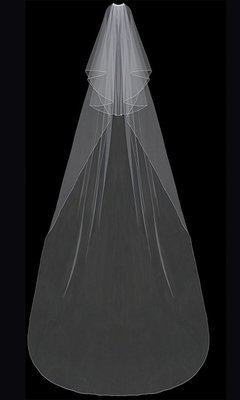 Circular Cut Cathedral Veil with blusher