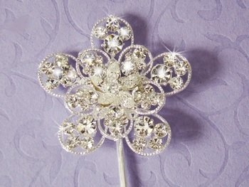 Crystal Flower  Accent