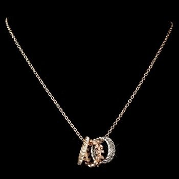 Rose Gold Necklace w/ Rings
