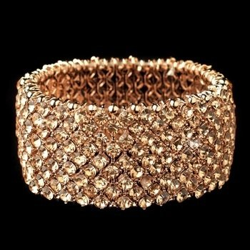 Rose Gold Stretch Rhinestone Bracelet