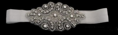 Rhinestone Brooch on Garter