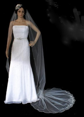 Artistic hand-crafted veil