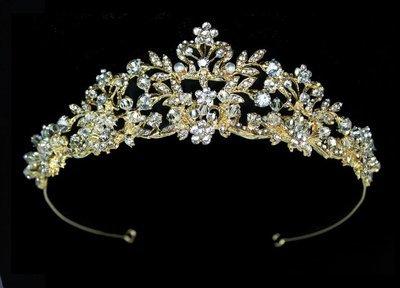 Rhinestone Floral Tiara